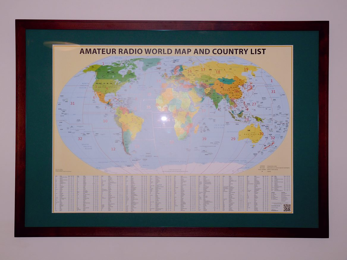 Arrived in perfect condition.  Attached is a picture of my map in a frame.  Looks absolutely fantastic!!  Thanks and 73,  Howard